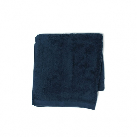 BATH TOWEL・PLACID / NATURAL - (NAVY)
