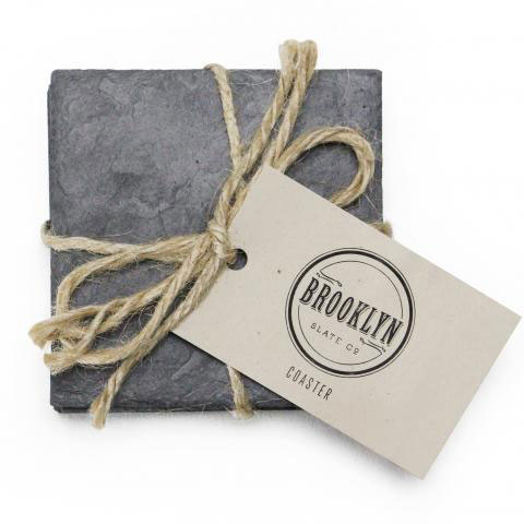 Slate Beverage Coaster set of 4