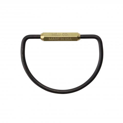 "D-shape Key Ring ""Black oxide"""