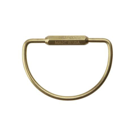 "D-shape Key Ring ""Brass"""