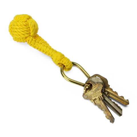 Monkey Knot Key Ring(YELLOW)