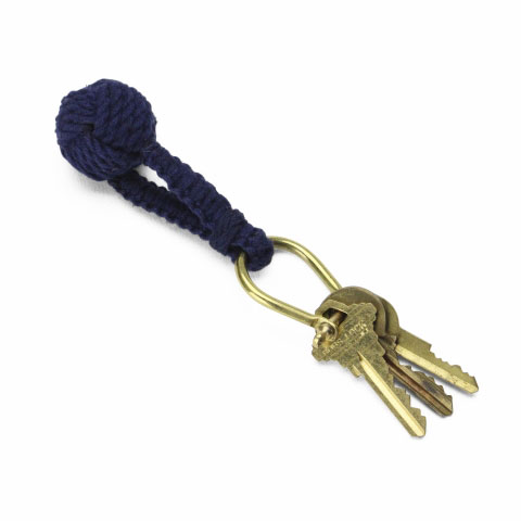 Monkey Knot Key Ring(NAVY)