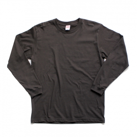 H.i.d LONG SLEEVE T-SHIRT (CHARCORL GRAY)